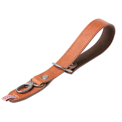 Barber Shop Razor Cut Camera Wrist Strap (Grained Brown Leather)
