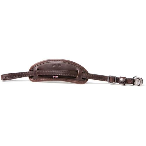 Barber Shop Tight Contour Camera Hand Strap (Dark Brown Leather)