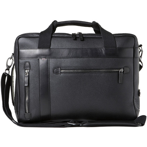 Barber Shop Undercut Convertible Camera Bag (Grained Leather, Black)