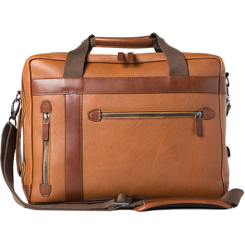 Barber Shop Borsa Undercut Convertible Camera Bag (Grained Leather, Brown)