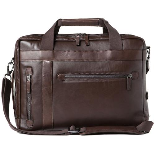 Barber Shop Undercut Convertible Camera Bag (Smooth Leather, Dark Brown)