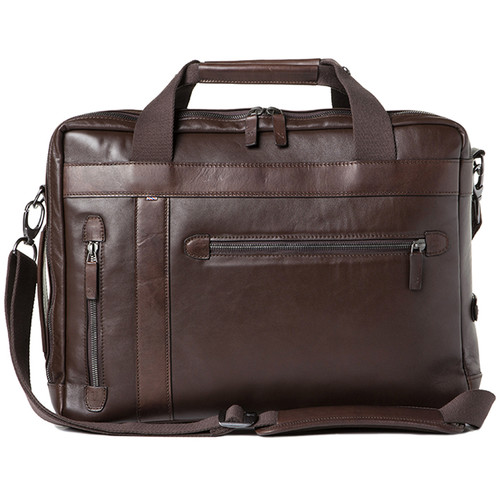 Barber Shop Undercut Convertible Camera Bag (Smooth Leather, Dark Brown)