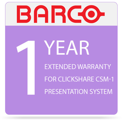Barco 1-Year Extended Warranty for ClickShare CSM-1 Presentation System