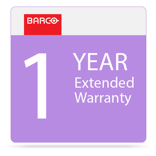 Barco 1-Year Extended Warranty for PGWX-62L Projector