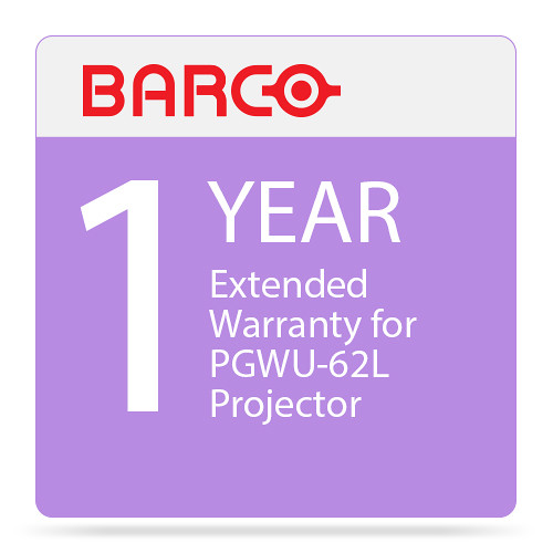 Barco 1-Year Extended Warranty for PGWU-62L Projector