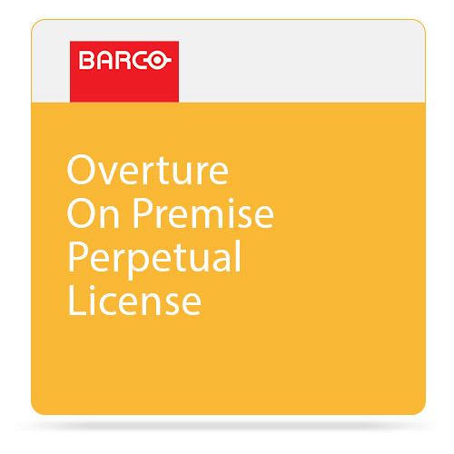 Barco Overture On Premise Perpetual License for One Legacy Overture Control Server or ShowMaster