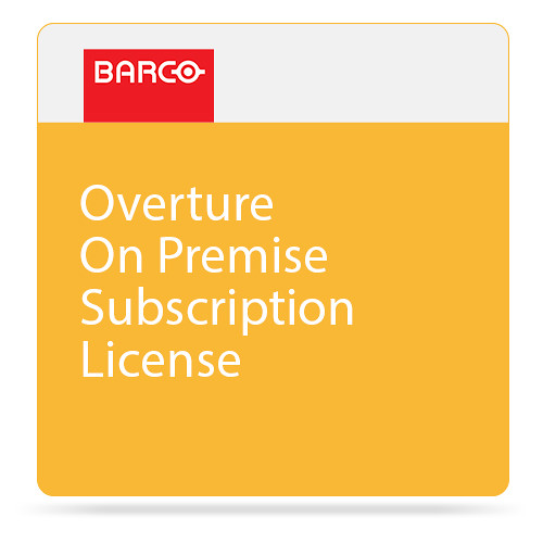 Barco Overture On Premise Subscription License for One Legacy Overture Control Server or ShowMaster