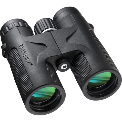 Barska 12x42 WP Blackhawk Binoculars (Black, Clamshell Packaging)