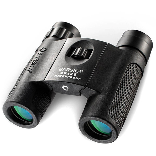 Barska 10x25 Blackhawk Compact Binocular (Clamshell Packaging)