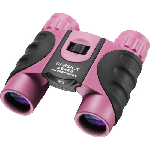 Barska 10x25 Colorado Waterproof Binocular (Pink, Clamshell Packaging)