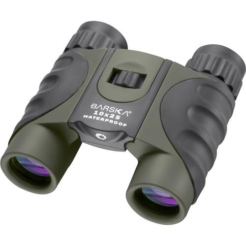 Barska 10x25 Colorado Waterproof Binocular (Green, Clamshell Packaging)
