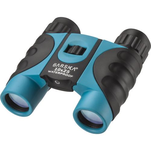 Barska 10x25 Colorado Waterproof Binoculars (Blue, Clamshell Packaging)