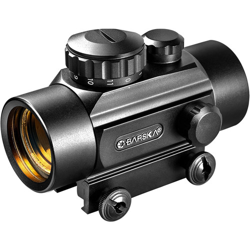Barska 1x30mm Red Dot Reflex Sight (3-Dot Crossbow Reticle, Clamshell Packaging)