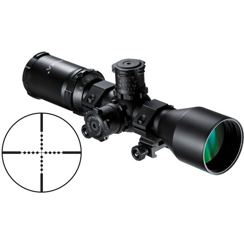 Barska 3-9x40 Contour Riflescope (Mil-Dot Reticle, Matte Black)