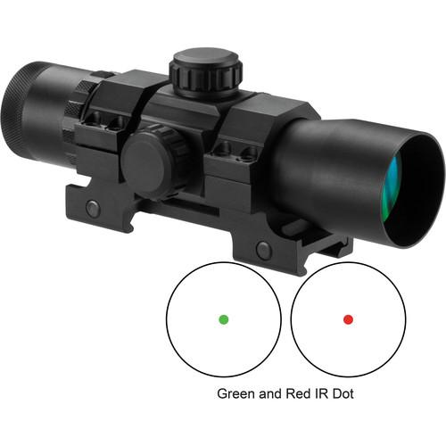 Barska Dual Illuminated Red-Dot Scope (Red-Green Dot Illuminated Reticle, Matte Black)