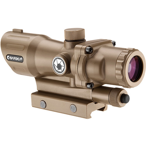 Barska 4x32 AR-15/M-16 Sight (Illuminated Target Dot Reticle, Tan/Flat Dark Earth)