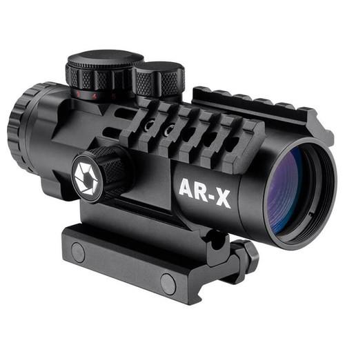 Barska 3x32mm IR AR-X Prism Scope (AR-X Mil-Dot Red-Green Illuminated Reticle, Matte Black)