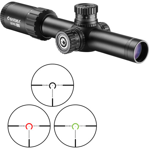 Barska 1-6x24 Level HD Riflescope (HRS MOA Illuminated Reticle, Matte Black)