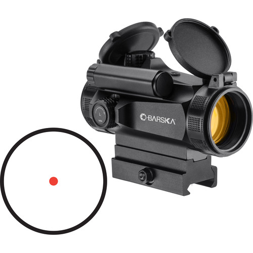 Barska AR-X HQ 1x30 Red Dot Sight (1 MOA Red Dot Reticle, Matte Black)