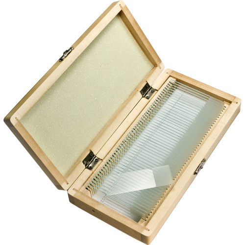 Barska Prepared Microscope Slides (50-Pack, Wooden Case)