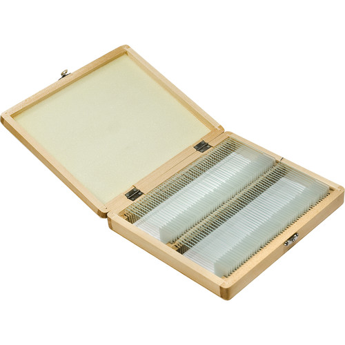 Barska Prepared Microscope Slides (100-Pack, Wooden Case)