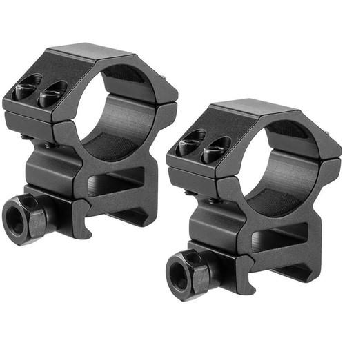 """Barska Medium Weaver-Style HQ Rings (1"""", 2-Pack, Aluminum, Matte Black)"""