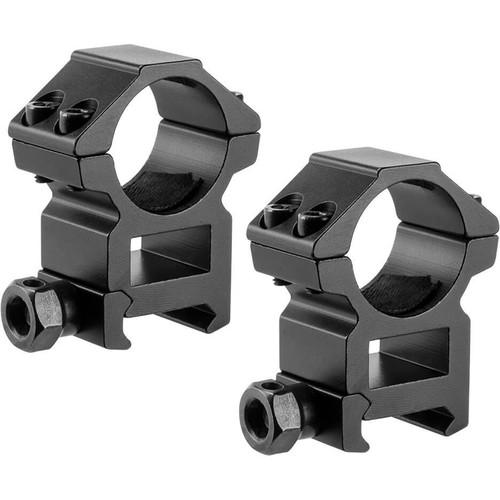 """Barska High Weaver-Style HQ Rings (1"""", 2-Pack, Aluminum, Matte Black)"""