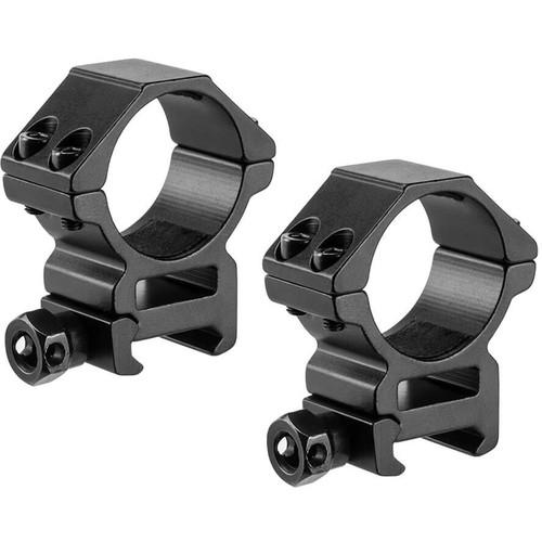 Barska Medium Weaver-Style HQ Rings (30mm, 2-Pack, Aluminum, Matte Black)
