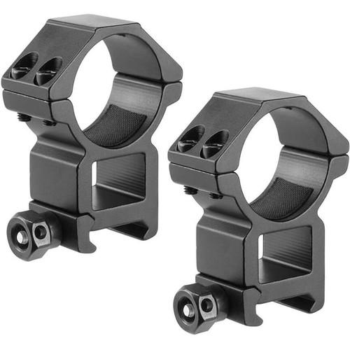 Barska High Weaver-Style HQ Rings (30mm, 2-Pack, Aluminum, Matte Black)