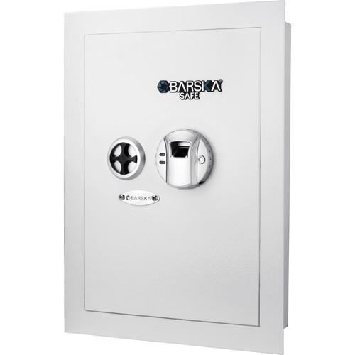 Barska Biometric Wall Safe (0.52 cu ft / White)