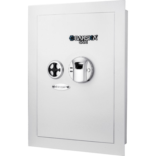 Barska Biometric Wall Safe (0.52 cu ft / White)