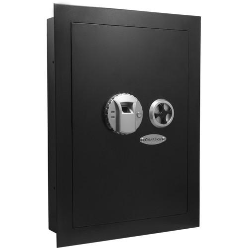Barska Biometric Wall Safe (Left Opening, Black)