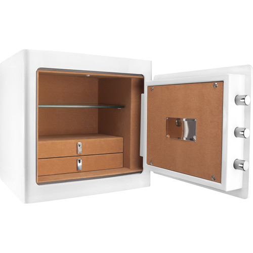 Barska Keypad-Opening Jewelry Safe (White, Tan Interior)