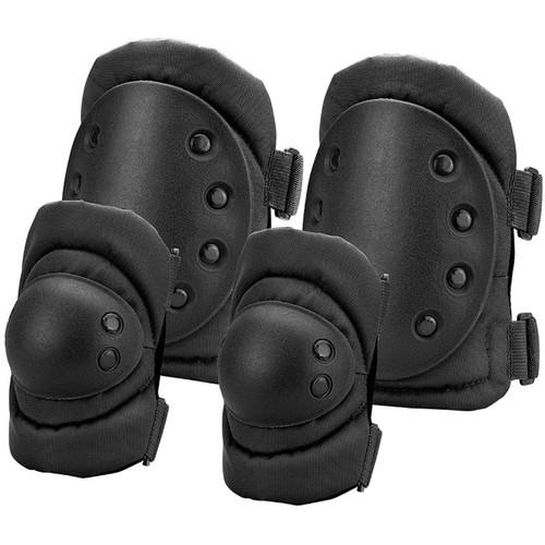 Barska CX-400 Loaded Gear Elbow and Knee Pad Set (Black)