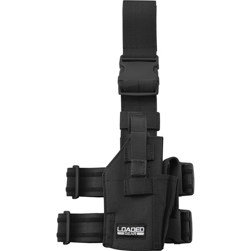 Barska CX-500 Loaded Gear Drop Leg Handgun Holder (Black)