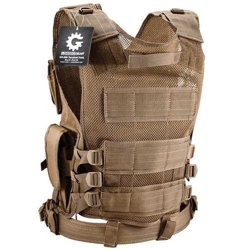 Barska Loaded Gear VX-200 Right-Handed Tactical Vest (Dark Earth)