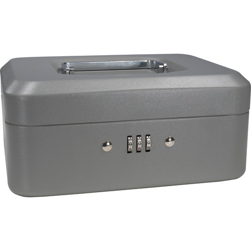 "Barska 8"" Cash Box with Combination Lock (Gray)"