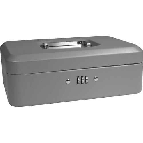 "Barska 10"" Cash Box with Combination Lock (Gray)"