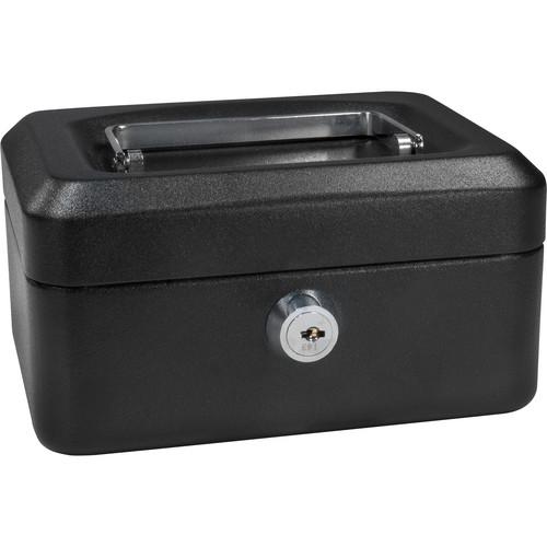 "Barska 6"" Cash Box with Key Lock (Black)"