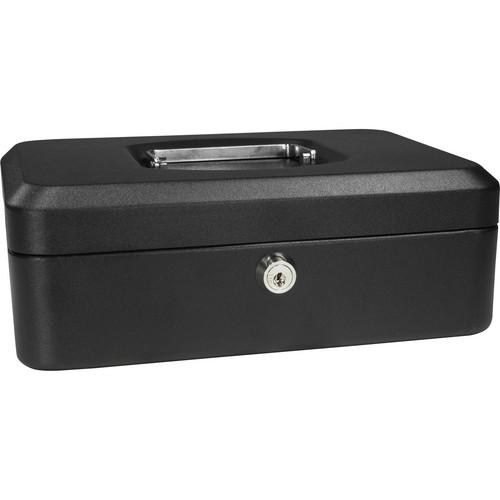 "Barska 8"" Cash Box with Key Lock (Black)"