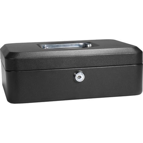 "Barska 10"" Cash Box with Key Lock (Black)"