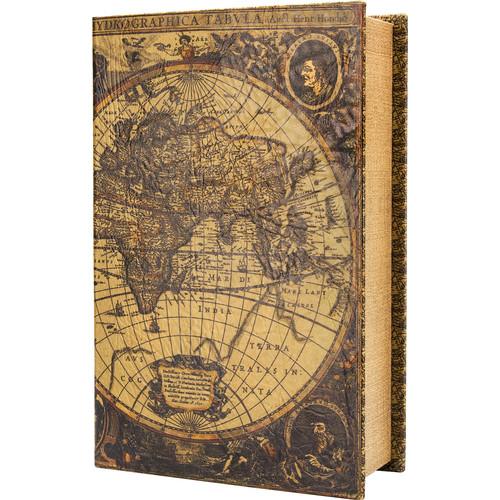 Barska Antique Map Book Lock Box with Keyed Lock