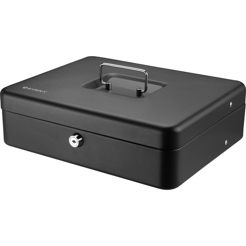 "Barska 12"" Standard Register Style Cash Box with Key Lock (Black)"