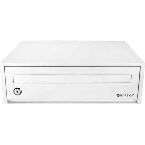 Barska Desktop Drop Box with Key Lock (White)