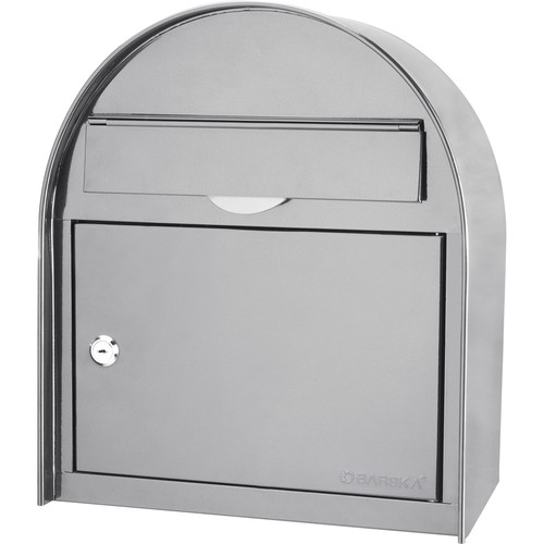 Barska Locking Wall Mount Mailbox (Large, White)