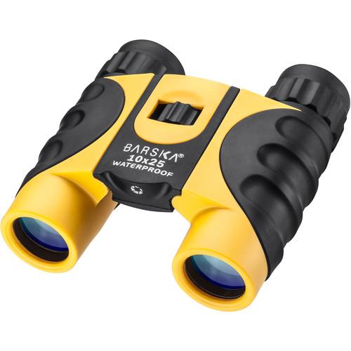 Barska 10x25 Colorado Waterproof Binocular (Yellow, Clamshell Packaging)