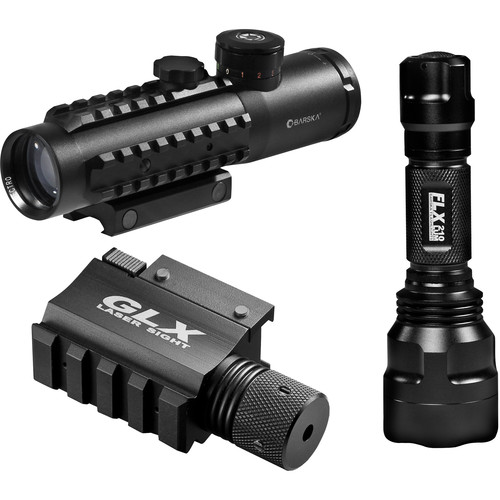 Barska 4x30 IR Sight with Green Laser and 210 Lumen Flashlight