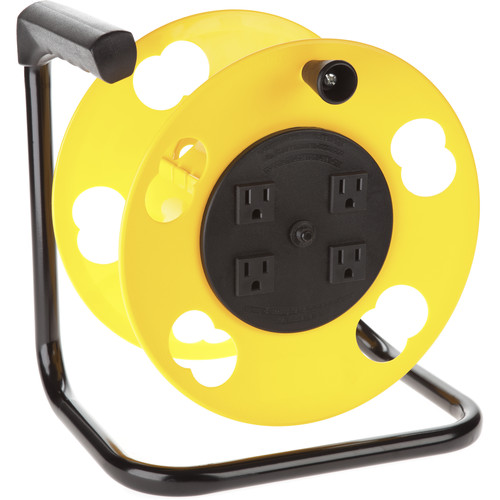 Bayco Products SL-2000PDQ Power Cord Storage Wheel with 4 Outlets