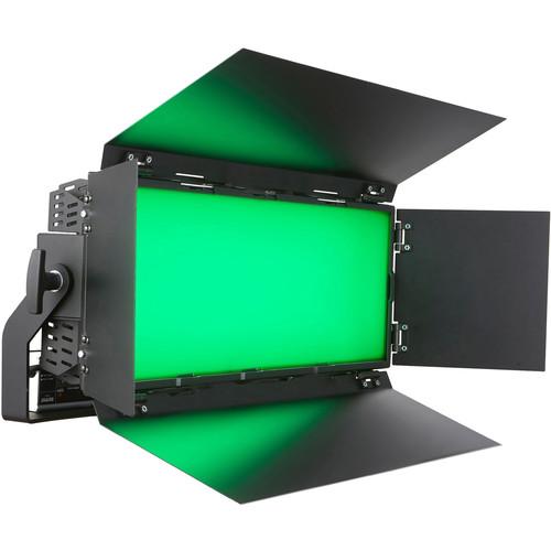 BB&S Lighting Area 96 Color Led RGBWW  97.5 CRI Head/ 320W/Detach Barndoors/48V Power Supply/Ac Cable (Black)