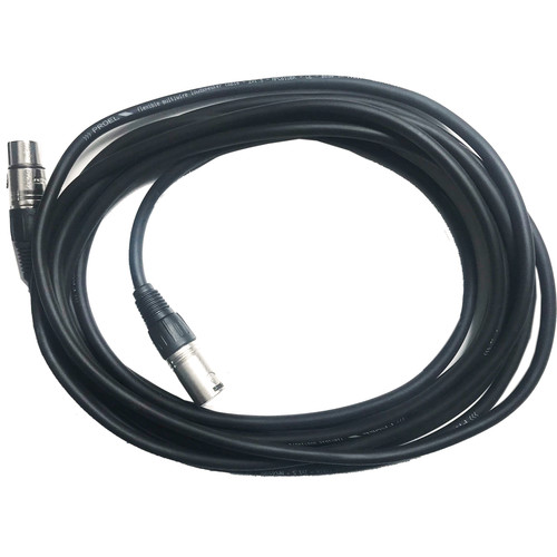 BB&S Lighting 3-Pin XLR Custom Cable with Neutrik Connectors for Pipeline (25')